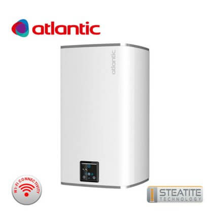 Вертикален бойлер Atlantic Steatite Cube 75 л бял, Wi-Fi
